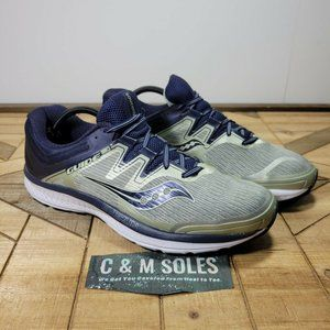 Saucony Guide ISO Gray Navy S20415-1 Running Shoes